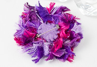 Pink Beaded Brooch alternative view 1