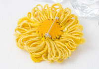 Sunflower Beaded Brooch alternative view 1