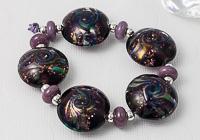 Glittery Lentil Lampwork Beads
