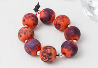 Orange Stone Tumbled Glass Beads