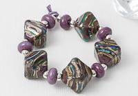 Purple Lampwork Bicone Beads