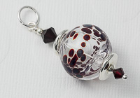 Hollow Dotty Lampwork Pendant