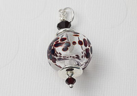 Hollow Dotty Lampwork Pendant alternative view 1