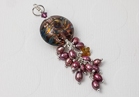 Pearl Lampwork Pendant alternative view 1
