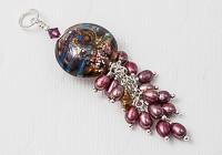 Pearl Lampwork Pendant