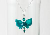 Butterfly Lampwork Pendant