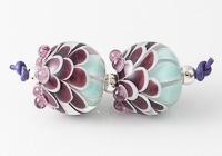 Dahlia Lampwork Beads