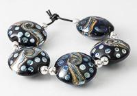 Dotty Metallic Lentil Beads