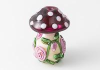 Flowery Toadstool Lampwork Bead