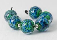 Purple Shimmer Lampwork Beads