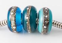 Turquoise Lampwork Charm Beads