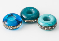 Turquoise Lampwork Charm Beads alternative view 1