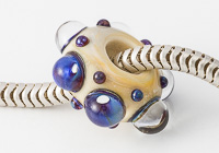 Silver Glass Lampwork Charm Bead