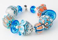 Turquoise Lampwork Bead Set
