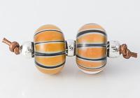 Stripy Lampwork Beads