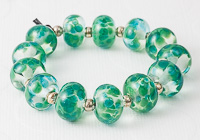 Green Fritty Beads