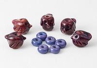 Red Bird Lampwork Beads