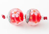 Stone Tumbled Flower Beads