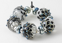 Black and White Dahlia Beads