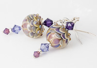 Pastel Lampwork Earrings