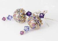 Pastel Lampwork Earrings