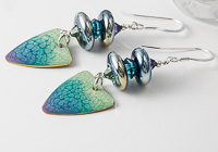 Seafoam Lampwork Earrings