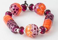 Orange and Purple Lampwork Beads