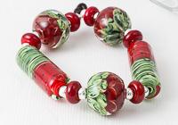 Melon Lampwork Beads