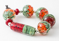 Red and Green Melon Bead Collection