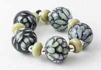 Stone Dahlia Lampwork Beads