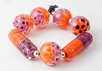 Dahlia Lampwork Bead Collection