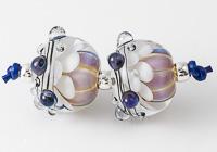 Bumpy Dahlia Lampwork Beads