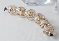 Golden Glitter Lampwork Beads
