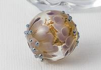 Golden Dahlia Lampwork Bead