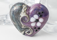 Purple Heart Lampwork Bead