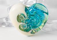 Whirlpool Heart Lampwork Bead