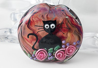 """Kitties Exploring"" Lampwork Bead"