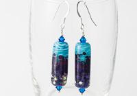 Purple Tubular Lampwork Earrings