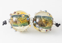 Dichroic Dotty Lampwork Beads