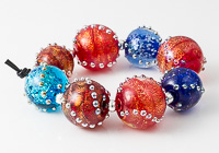 Dichroic Lampwork Bead Collection