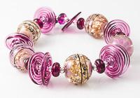 Large Gold Glitter Lampwork Beads
