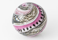 Large Glittery Swirly Lampwork Bead