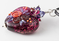 Pink Heart Lampwork Pendant alternative view 2
