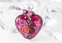 Pink Heart Lampwork Pendant alternative view 1