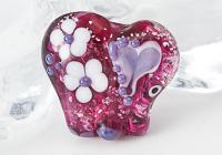 Pink Lampwork Elephant Bead