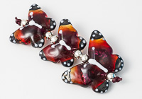 Orange and Pink Lampwork Butterflies