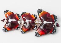 Orange and Pink Lampwork Butterflies alternative view 1
