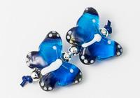 Blue and Purple Lampwork Butterflies