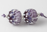 Purple Dahlia Bead Pair