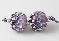 Purple Dahlia Bead Pair